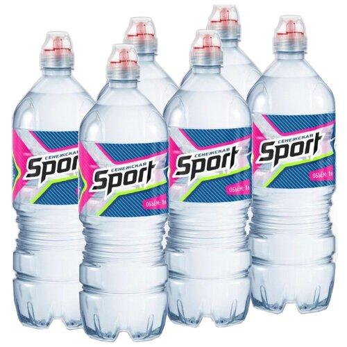 Вода минеральная Сенежская Спорт негазированная, ПЭТ, 6 шт. по 1 л