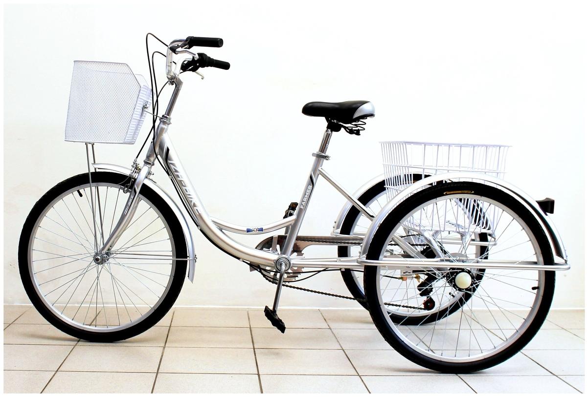 Характеристики модели Трехколесный велосипед для взрослых IZH-BIKE Farmer (Фермер) 24