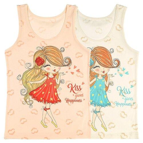 Купить Майка для девочек 49678GK, Цвет: Микс, Размер: 6/7, 5шт. в упаковке, Donella, Белье и купальники