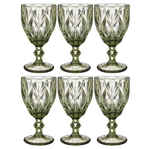 Набор бокалов Lefard Ромбо для вина 320 мл из 6 штук, Серия Muza Color, высота 17 см (781-120)