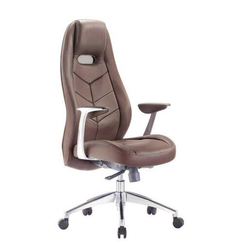 Фото - Компьютерное кресло Бюрократ Zen для руководителя, обивка: натуральная кожа/искусственная кожа, цвет: brown папка для документов rhino 08 brown винтаж натуральная кожа