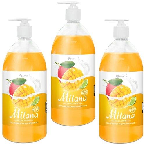 Крем-мыло жидкое Grass Milana Манго и лайм, 3 шт., 1 л крем мыло жидкое grass milana манго и лайм 3 шт 1 л