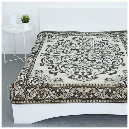 Покрывало гобеленовое на кровать и диван, Вселенная Текстиля, пл.400, Канделябры классический 147х210 см