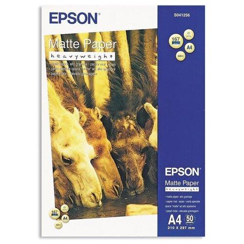 Фото - Бумага Epson A4 Matte Paper Heavyweight 167 г/м² 50 лист., белый epson бумага epson water resistant matte canvas 44 x 12 2м c13s042016