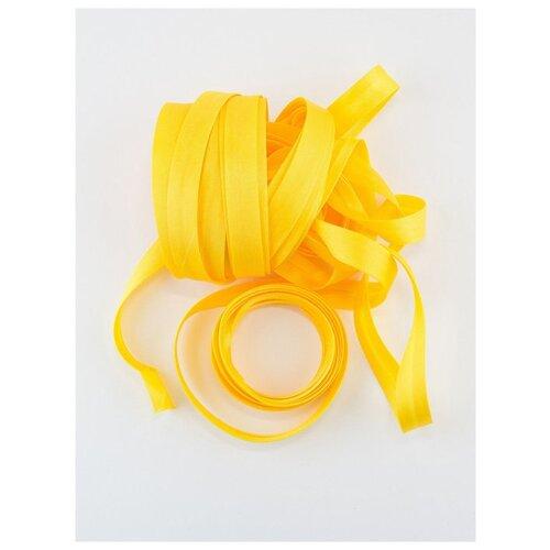 Купить Косая бейка, 14-15 мм, 10 м., GK-15P, Гамма, №013 желтый, Gamma, Технические ленты и тесьма