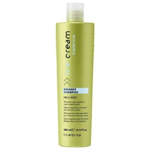 Купить INEBRYA шампунь Ice Cream Balance себорегулирующий для жирной кожи головы, 300 мл