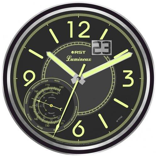 Часы настенные электронные RST Lumineux 77742 черный/серебристый