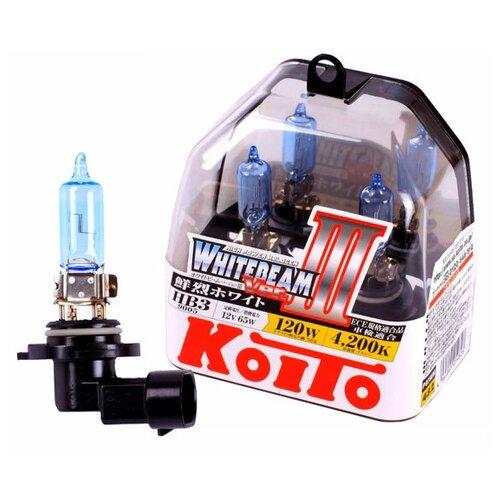 Лампа галогенная Koito Whitebeam 9005 (HB3) 12V 65W (120W) 4200K, 2 шт. (блистер)
