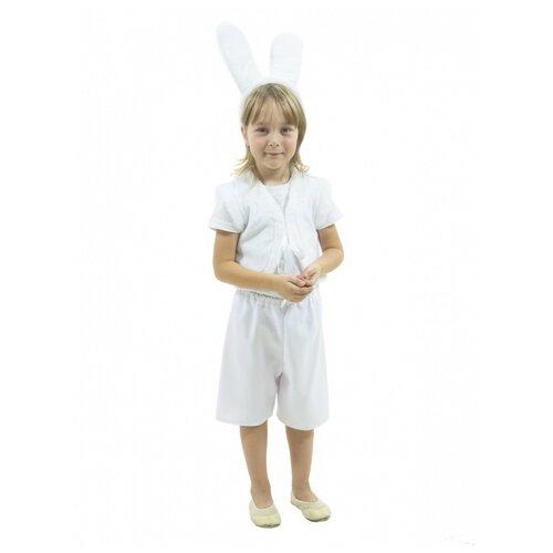 Купить Костюм белого зайчишки, размер 104-110 см., Вестифика, Карнавальные костюмы