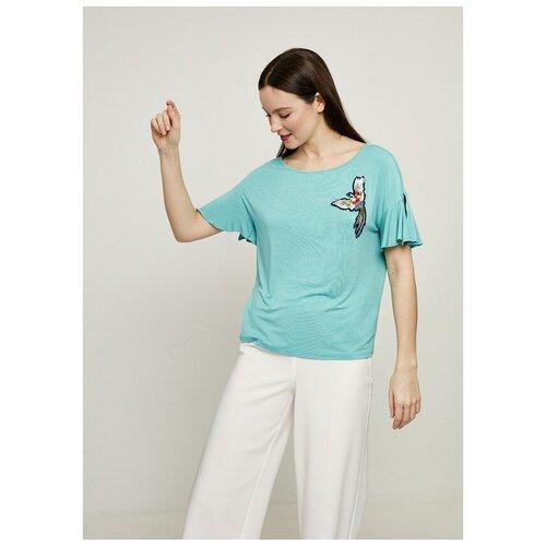 Фото - Футболка Zarina, размер 44(S), зеленый джинсы zarina 0328465765 101