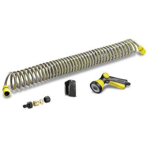 Фото - Комплект для полива KARCHER спиральный шланг в комплекте 10 метров желтый/черный комплект для подключения авд шланг адаптеры karcher 2 645 156