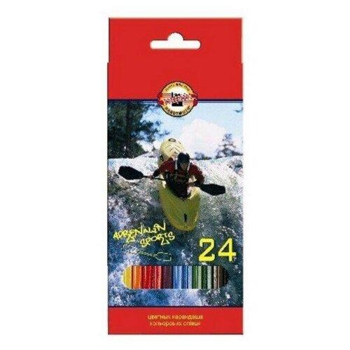 Купить Карандаши цветные 24цв 6-гран Koh-I-Noor SPORT 3554, Цветные карандаши