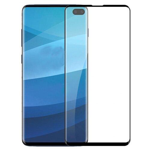3D/5D защитное стекло MyPads для Samsung Galaxy S10+ Plus SM-G975F с закругленными изогнутыми краями которое полностью закрывает экран / дисплей по краям с олеофобным покрытием