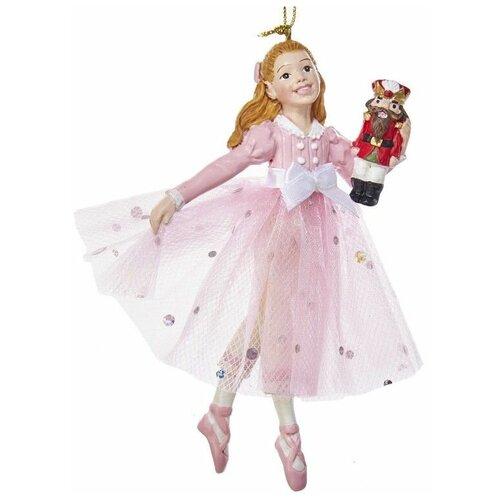 Ёлочная игрушка КЛАРА в розовом платье, полистоун, 12.7 см, Kurts Adler C7993C недорого