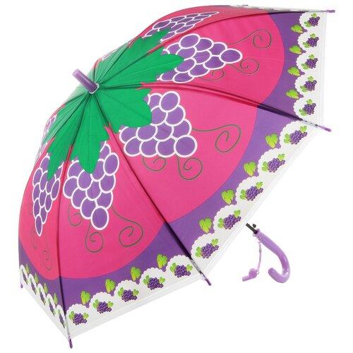 Зонтик детский трость, 66см Amico 118358