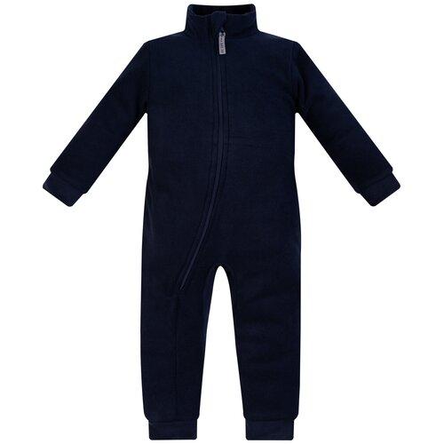 Комбинезон детский, флисовый,286г(ш), Утенок, рост 98 см т.синий