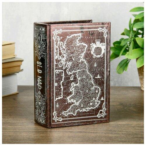 Шкатулка-книга дерево кожзам перламутр