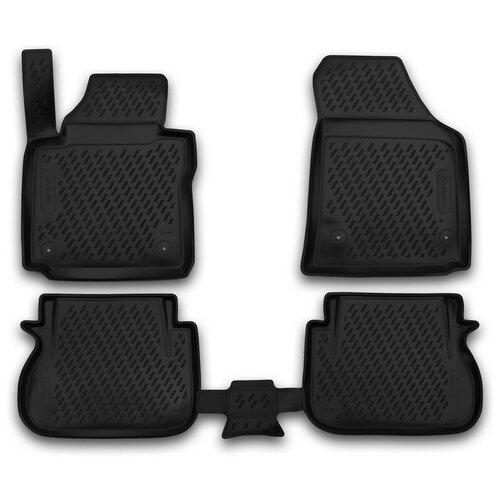 Комплект ковриков салона ELEMENT CARVLK00003 для Volkswagen Caddy 4 шт. черный