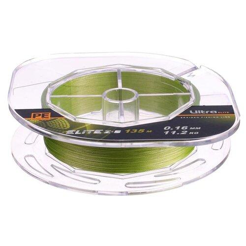 Леска плетёная Aqua Pe Ultra Elite Z-8, d=0,16 мм, 135 м, нагрузка 11,2 кг 2173940 по цене 418