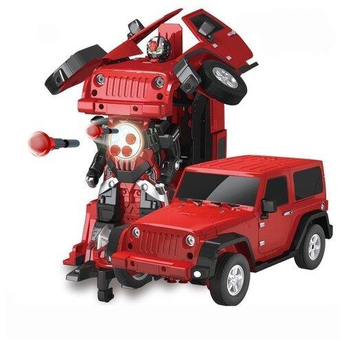 Фото - Радиоуправляемый робот трансформер Jeep Rubicon Red 1:14 - 2329PF радиоуправляемый робот трансформер mz model радиоуправляемый робот трансформер mz porshe 911 meizhi 2337p
