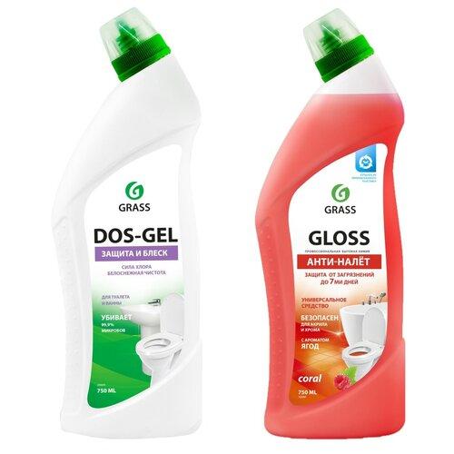 Фото - Grass набор дезинфицирующий чистящий гель Dos Gel + чистящий гель для ванны и туалета Gloss coral grass гель универсальный dos gel 5 3 кг
