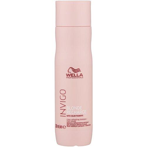 Купить Wella Professionals шампунь Invigo Blonde Recharge для холодных светлых оттенков, 250 мл