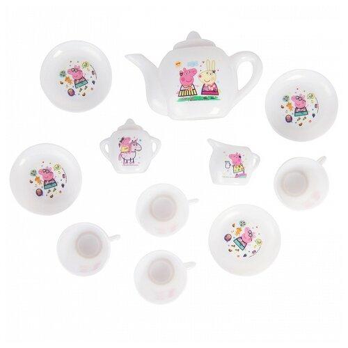 Набор посуды РОСМЭН Свинка Пеппа - Чаепитие с Пеппой (34523) белый
