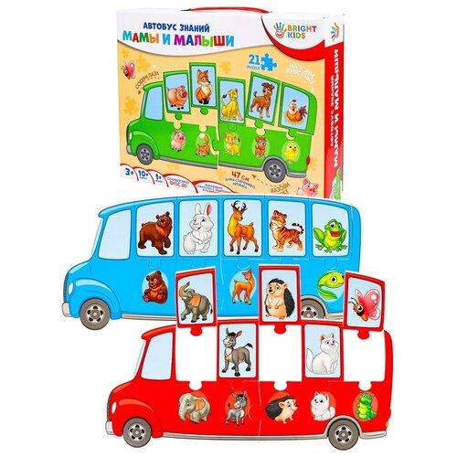 Фото - Игра-пазл Рыжий кот Bright Kids, Автобус знаний, Мамы и малыши (ИН-7638) bright kids развивающая игра угадайки рыжий кот ин 7617 рк