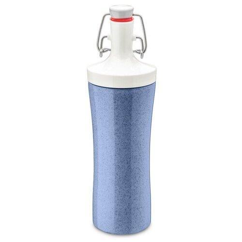 Фото - Бутылка для воды Koziol Plopp to go Organic 0.42 пластик синий бутылка для воды koziol plopp to go organic 0 42 пластик синий