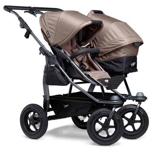 Фото - Универсальная коляска для двойни TFK Duo Combi (2 в 1), brown, цвет шасси: серый универсальная коляска indigo charlotte duo 2 в 1 ch31 цвет шасси черный