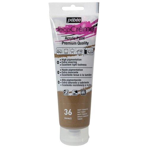 Купить Краска акриловая Pebeo кремовая, матовая, decoCreme, 120 мл, табачный, Краски