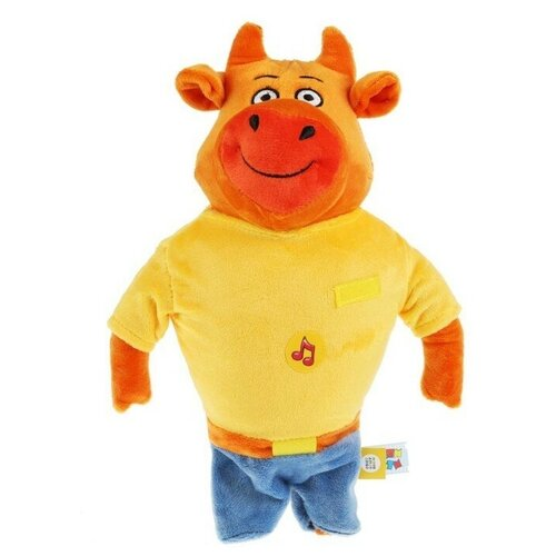 Мягкая игрушка Мульти-Пульти Оранжевая корова Папа 30 см, музыкальный чип игрушка мягкая мульти пульти оранжевая корова собачка федя 21 см музыкальный чип в пакете c20018 21 48