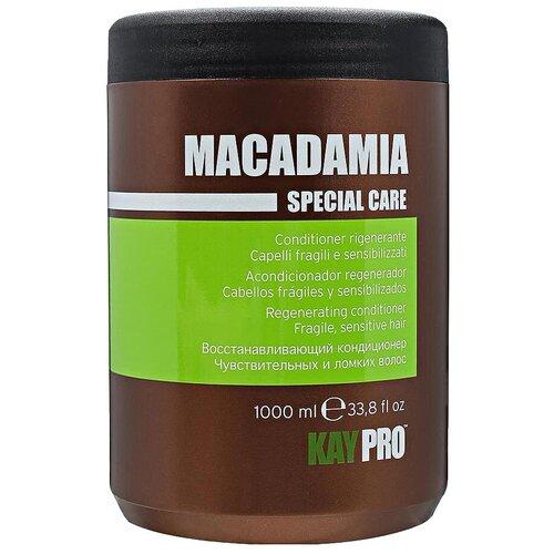 kaypro шампунь macadamia KayPro кондиционер Macadamia Special Care восстанавливающий для чувствительных и ломких волос, 1000 мл