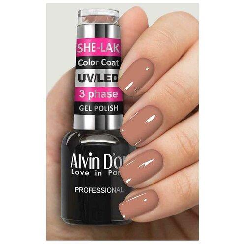 Купить Гель-лак для ногтей Alvin D'or She-Lak Color Coat, 8 мл, 3570