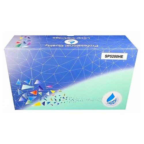 Фото - Картридж Aquamarine SP5200HE (совместимый с Ricoh SP5200HE), цвет - черный, на 25000 стр. печати bw 4608