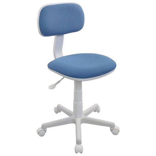 Компьютерное кресло Бюрократ CH-W201NX детское, обивка: текстиль, цвет: голубой 26-24 компьютерное кресло бюрократ ch w797 abstract детское обивка текстиль цвет мультиколор абстракция