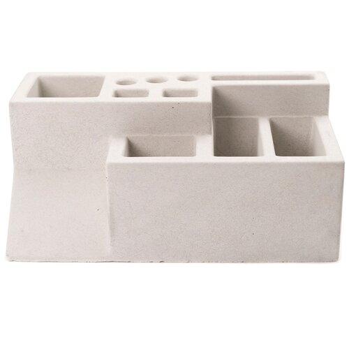 Органайзер для канцелярских принадлежностей бетонный, М1, циркон