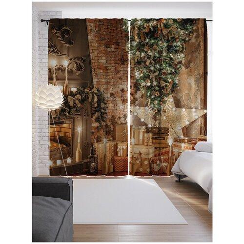 Фото - Портьеры JoyArty Подарки для семьи на ленте 265 см (p-78656) штора для ванной joyarty подарки для семьи 180х200 sc 78656