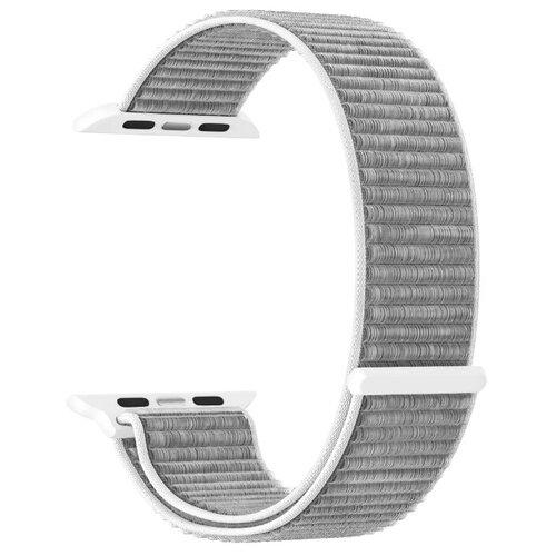 Фото - Нейлоновый ремешок для Apple Watch 38/40 mm LYAMBDA VEGA DS-GN-02-40-6 Gray-white нейлоновый ремешок для apple watch 42 44 mm lyambda vega ds gn 02 44 6 gray white