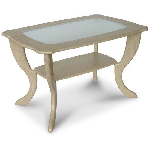 Столик журнальный Калифорния мебель Маэстро СЖС-01, ДхШ: 90 х 60 см, дуб беленый недорого