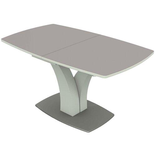Стол кухонный AURORA (Димитровград) Нотр-Дам, раскладной, ДхШ: 140 х 85 см, длина в разложенном виде: 171.5 см, серый металлик
