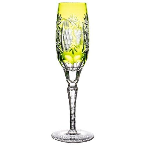 GRAPE Reseda - Фужер для шампанского 180 мл, светло-зеленый, Ajka Crystal недорого