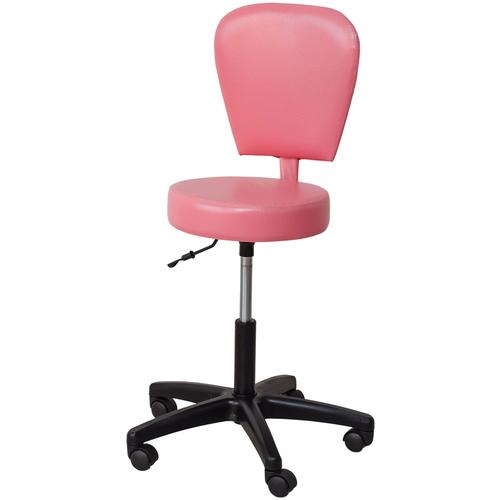 Стул мастера косметолога со спинкой розовый стул мастера косметолога синий