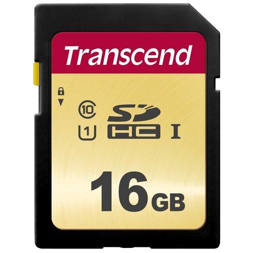 Фото - Карта памяти Transcend TS*SDC500S 16 GB, чтение: 95 MB/s, запись: 60 MB/s карта памяти transcend ts sdxc10 128 gb запись 16 mb s