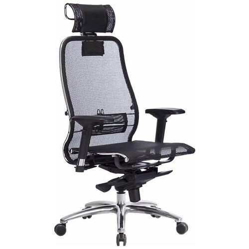 Кресло для руководителя Метта Samurai S-3.04, обивка: текстиль, цвет: сетка черная