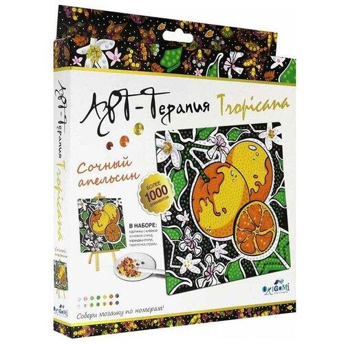 Origami Набор алмазной вышивки Арт-терапия Tropicana Сочный апельсин (04733) 20х20см картины своими руками origami мозаика алмазные узоры сочный апельсин арт терапия