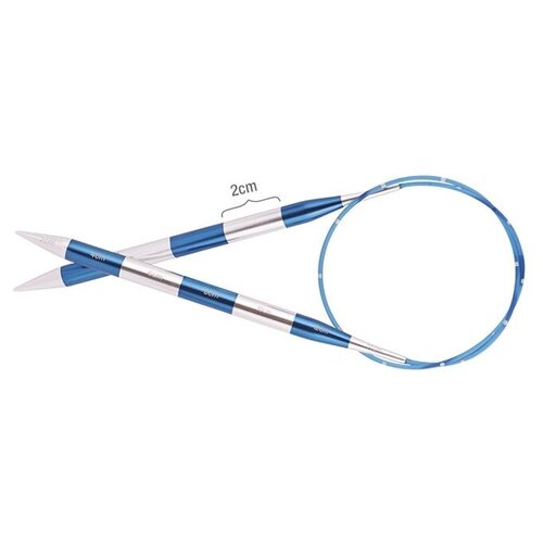 Купить Спицы Knit Pro SmartStix 42074, диаметр 6.5 мм, длина 60 см, серебристый/сапфир