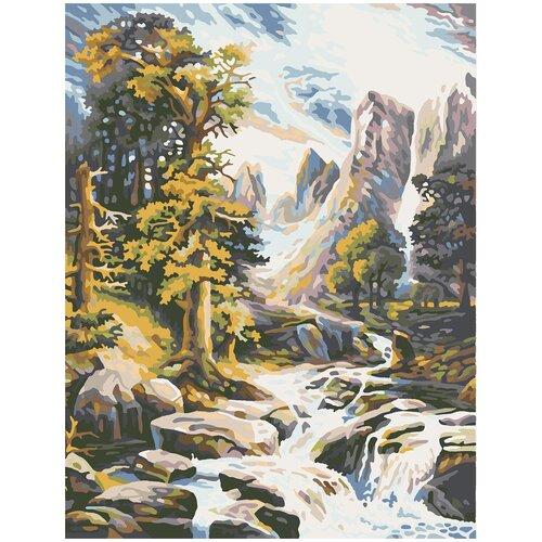 Купить Картина по номерам Горный Ручей, 80 х 100 см, Красиво Красим, Картины по номерам и контурам