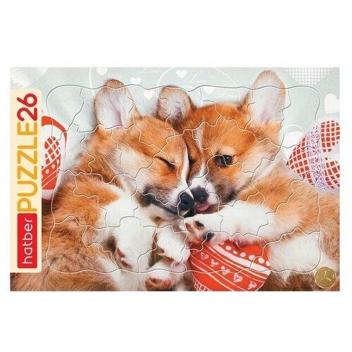 Купить Рамка-вкладыш Hatber Очаровательные щенки (26ПЗ4_16185), 26 дет., Пазлы
