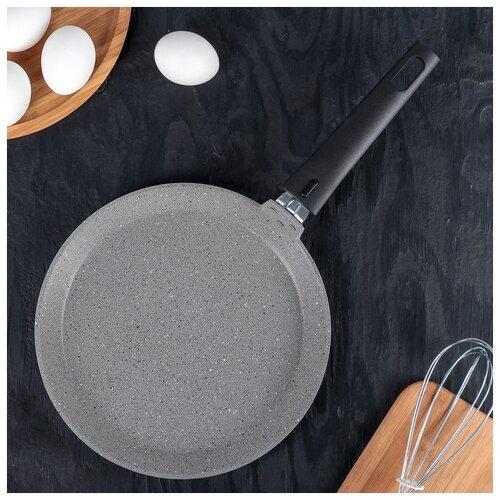 Сковорода блинная 240мм АП (светлый мрамор) 4206769 сковорода d 24 см kukmara кофейный мрамор смки240а